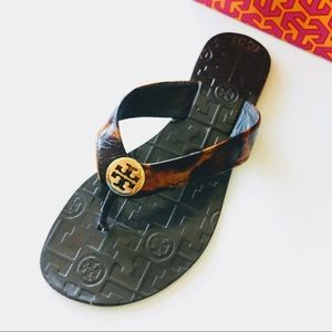 Tory Burch 'Thora-Leopard Print' Sandals, Sz 7